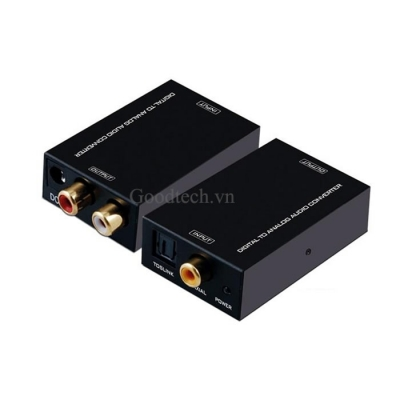 Bộ chuyển đổi Optical Audio to RCA Audio – Digital to Analog Audio R/L